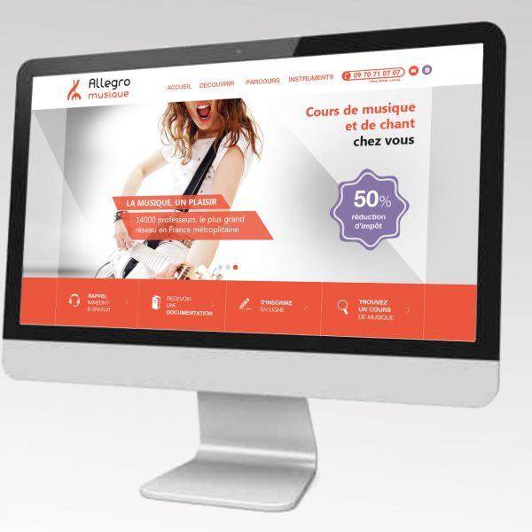 Site Cours de musique Allegro musique